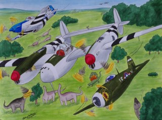 Fig Fighter planes Dinosaurs and bugs