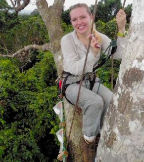 Jane Lucas in Panama Rainforest